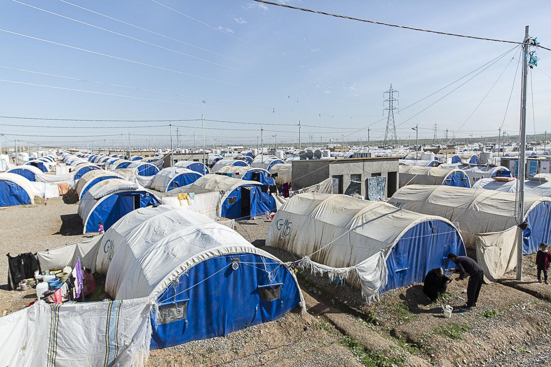 Il campo al-Kazer1 ospita oltre 30mila profughi. © 2017 Emanuele Confortin