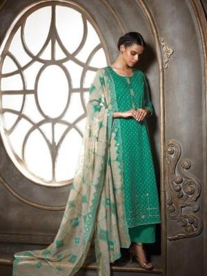 Ganga Cotton Printed With Embroidery Suit D.No.C0609
