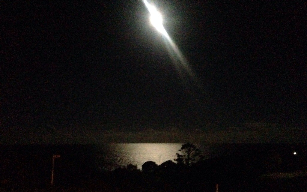 Full moon on the sea