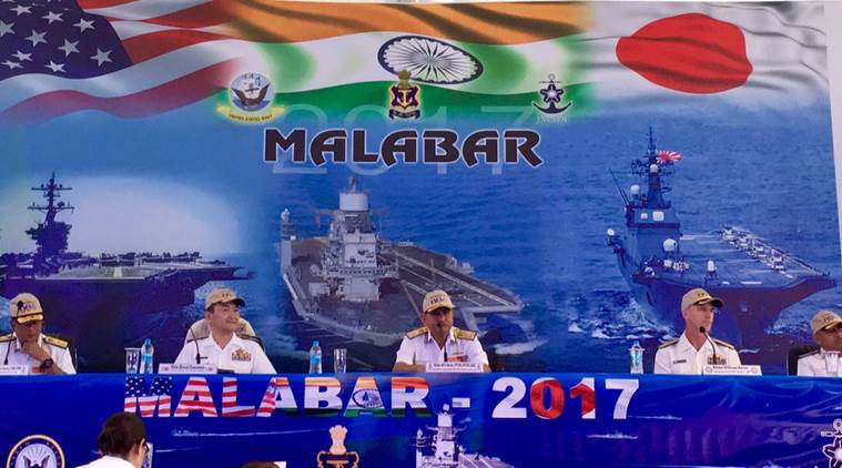Malabar Exercise 2017: India kicks off naval exercise with US, Japan