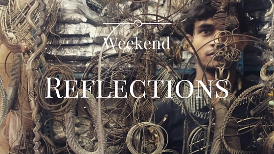 Weekend Reflection A metal works shop in Turkman Gate, Old Delhi, India