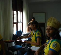 """Professores Kaimbé de Euclides da Cunha na Bahia. """"Não é justo a gente trabalhar um mês para ganhar menos de um salário mínimo, onde estão os órgãos que estão em nossa defesa? Até quando as prefeituras irão atrapalhar a vida dos profissionais das escolas indígenas?"""""""