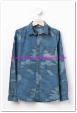 DeFacto genç erkek mavi kamuflaj gömlek-40 TL