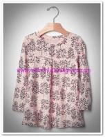 Gap kız çocuk buz pembe pileli tunik tişört-40 TL