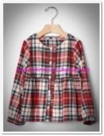 Gap kız çocuk fırfırlı ekose gömlek-90 TL