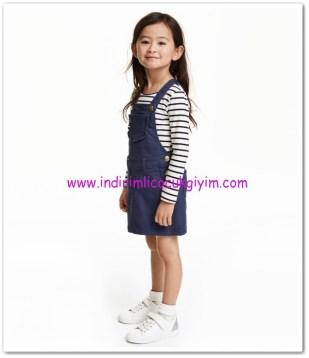 HM-kız çocuk lacivert salopet elbise-40 TL