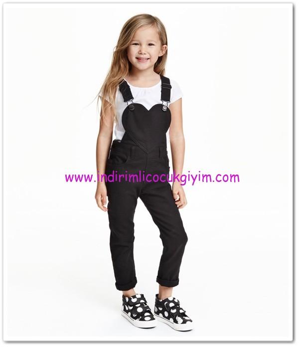HM kız çocuk siyah gabardin tulum-60 TL