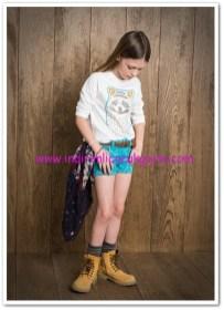 Mango kız çocuk boncuklu hayvan figürlü tişört-17 TL