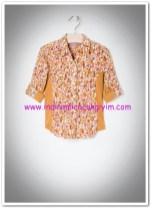 Mango kız çocuk fitilli parçalı gömlek-20 TL