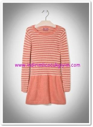 Mango outlet kız çocuk çizgili yün elbise-27 TL
