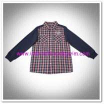Panço erkek çocuk lacivert ekose gömlek-12,50 TL