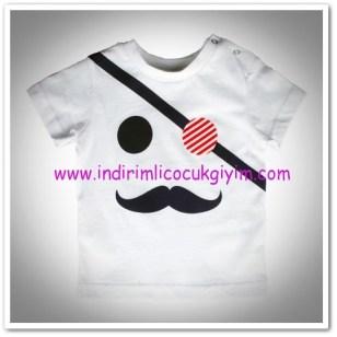 Panço erkek bebek beyaz tişört-15,50 TL