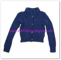 Panço kız çocuk lacivert düğmeli hırka-49,50 TL