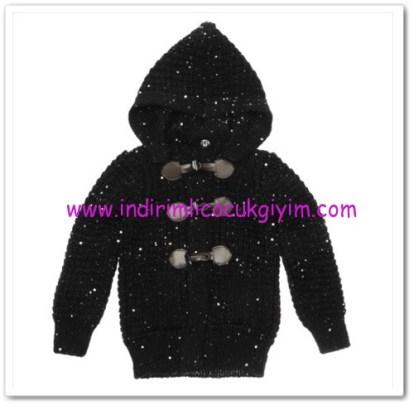 Panço kız çocuk siyah kapşonlu hırka-79,50 TL