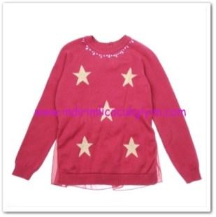 Panço kız çocuk vişme yıldızlı triko-54,50 TL