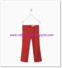 Zara kız çocuk kırmızı yanları çapraz bağcıklı pantolon-36 TL