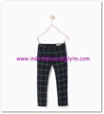 Zara kız çocuk koyu mavi kareli pantolon-40 TL