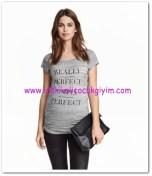 HM-açık gri kırçıllı jarse hamile tişörtü-40 TL