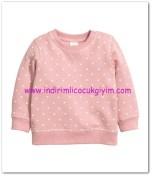 HM-kız bebek koyu pembe kalpli sweatshirt-20 TL