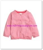 H&M kız bebek pembe hırka-25 TL