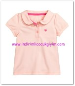 HM-kız bebek pembe polo tişört-17 TL