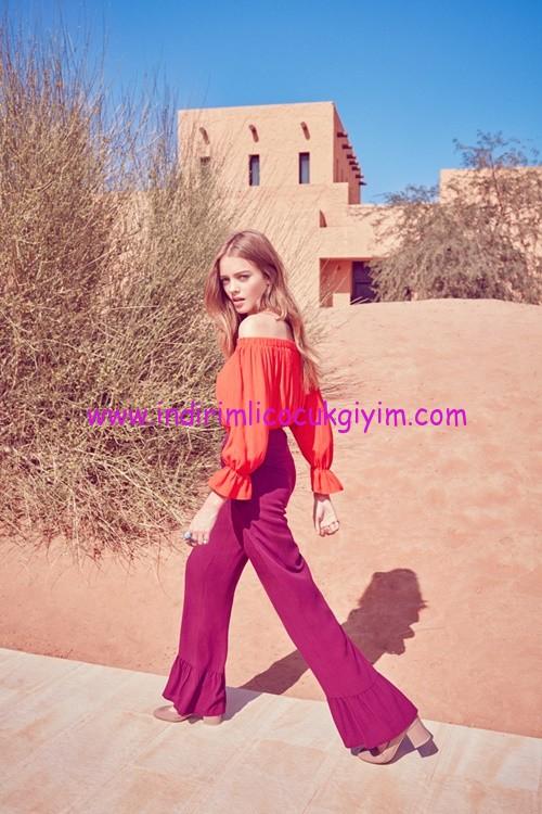 Koton Ole Genç Kız Fırfırlı Bluz Modelleri