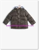 Koton erkek çocuk haki kapüşonlu dolgu mont-50 TL