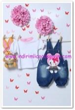 Tozlu Giyim 1-2 yaş kız çocuk askılı ikili takım-25 TL