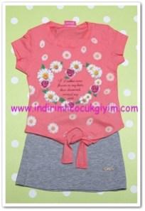 Tozlu giyim 3-6 yaş kız çocuk etek-bluz takımı-20 TL