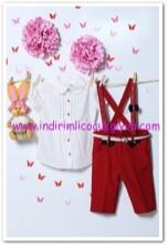Tozlu giyim askılı 3-6 yaş kız ikili takım-60 TL
