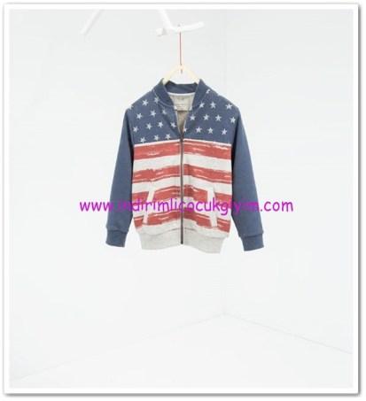 Zara erkek çocuk marin sweatshirt ceket-56 TL