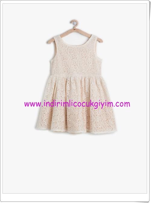 Koton kız çocuk dantel detaylı kolsuz elbise-60 TL
