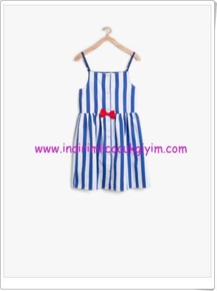 Koton kız çocuk lacivert çizgili elbise-40 TL