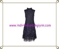 Puledro kız çocuk lacivert abiye elbise-130 TL