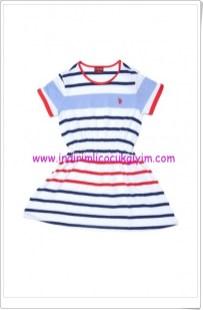 U.S Polo kız çocuk çizgili elbise-20 TL