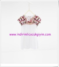 Zara kız çocuk ekru elbise-80 TL