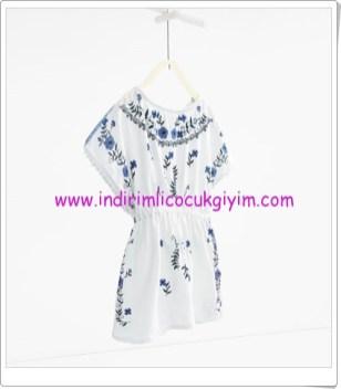 Zara kız çocuk kaftan elbise-56 TL