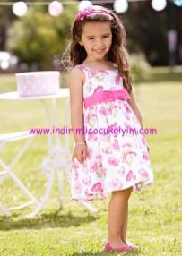 Bonprix çiçek desenli kurdeleli kız çocuk elbise