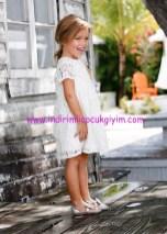 Bonprix kız çocuk beyaz dantel elbise