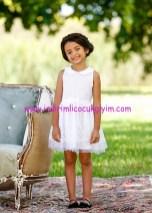 Bonprix kız çocuk beyaz denizci yakalı elbise