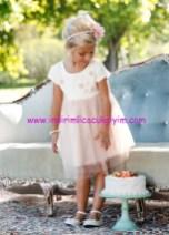 Bonprix kız çocuk kırık beyaz tül etekli elbise
