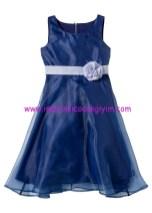 Bonprix kız çocuk mavi şifon tül abiye elbise