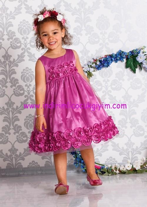 d754a0b338fc8 Bonprix kız çocuk mor çiçekli abiye elbise | İndirimli Çocuk Giyim ...