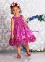 Bonprix kız çocuk mor çiçekli abiye elbise