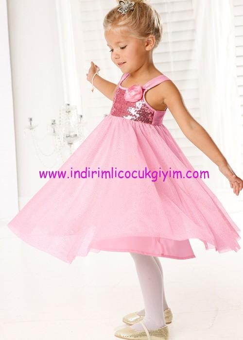 d2974b691d1ae Bonprix kız çocuk pudra pembesi payetli abiye elbise | İndirimli ...