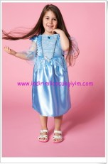 DeFacto kız çocuk mavi prenses kostümü-80 TL