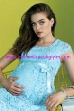 Ebru Maternity abiye dantel hamile elbise