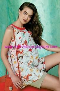 Ebru Maternity floral desenli hamile bluz
