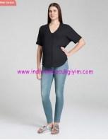 Fermuar detaylı hamile kot zipper pantolon-155 TL