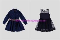 LCW kız çocuk lacivert elbise modelleri